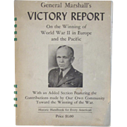 General Marshall's Victory Report on the Winning of World War II in Europe and ...