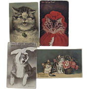 4 Cat and Dog Postcards