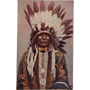 Indian Chief 'Charging Bear'  Postcard by Tuck