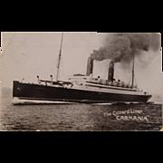 "The Cunard Liner ""Carmania"" Photo Postcard"