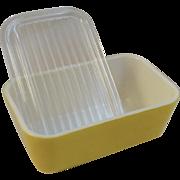 Pyrex Yellow Daisy 1 & 1/2 Pint Refrigerator Dish Citrus Yellow