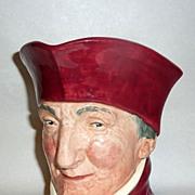 "Vintage 6"" Royal Doulton Figural Toby Mug THE CARDINAL- A mark"