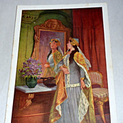 Five Vintage Otto Kubel German Fairy Tale Postcards - Sleeping Beauty