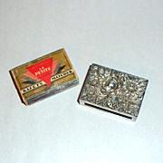 Vintage 1930's Kirk & Son Sterling Floral Relief Match Box Safe Holder