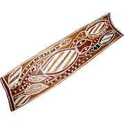 "Vintage Australian Aboriginal 22"" Bark Painting ~Signed Jim Mordok Djinang Tribe"