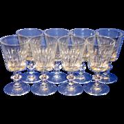 """8 Vintage Hawkes RAMSEY 7334 Cut Crystal 7"""" Water / Wine Glasses"""