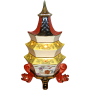 "1960 Vintage 9 1/2"" Goebel Porcelain Pagoda Perfume Lamp / Night Light"