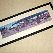 "Vintage 27"" long Framed Print Traverse des Sioux Minnesota Land Trade"