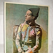 """1950's Belle Arte Publications Seated Harlequin by Picasso - 25"""" Lithograph"""