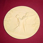 Ivory Alabaster Limited Edition Plate of Madame Butterfly