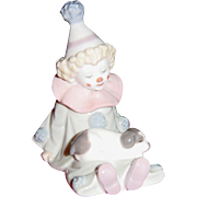 Lladro Adorable Clown Child Pierrot with Puppy 5277