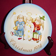 SALE Schmid Sister Berta Hummel Heavenly Trio Christmas 1978 Plate