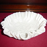 SOLD Imperial Satin Milk Glass Rose Bowl - Red Tag Sale Item