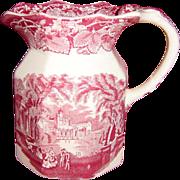 Mason's Pink or Red Vista Milk Pitcher