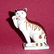 Franklin Mint 18th Century German Style Curio Cabinet Cat