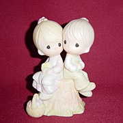 SALE Precious Moments Love One Another Jonathan & David Figurine