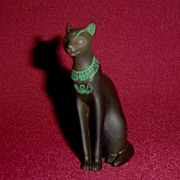 Franklin Mint Curio Cabinet Egyptian Cat