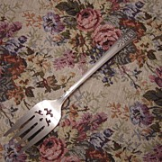 Wm A Rogers Oneida Silverplate Fortune Pierced Cold Meat Serving Fork