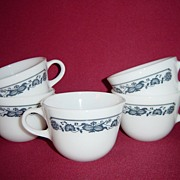 SALE Corning Glass Old Town Blue Coffee Cups