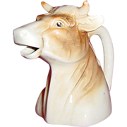 Occupied Japan Porcelain Brown Cow Creamer