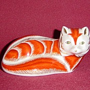 SOLD Royal Crown Derby Bone China Fox Paperweight
