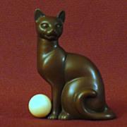 Franklin Mint Art Deco Curio Cabinet Cat