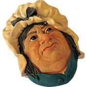 Bossons Sarah Gamp Wall Head Plaque