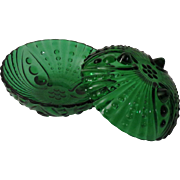 Anchor Hocking Forest Green Inspiration Burple Berry Bowls