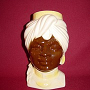 SALE Royal Copley Blackamoor Head Vase