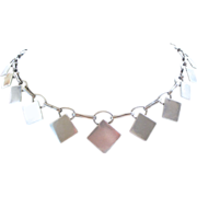 Deco Sterling Silver Collar Necklace by Anders Ring, Denmark RARE