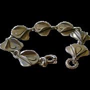 Spectacular Modernistic Bracelet Sterling Silver Links 3 Dimensional