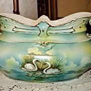 Austria/Prussia Gorgeous Swan Vase Royal Bruxonia