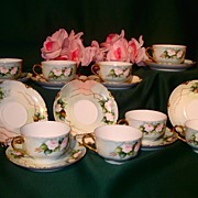 Gorgeous Haviland Limoges HP Porcelain Cups and Saucers