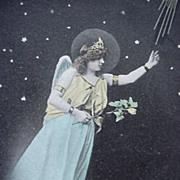 SOLD Christmas Angel Postcard