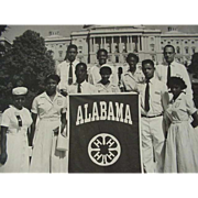 SALE Black Americana Photo 4-H Group Representing Alabama 1952