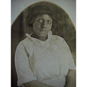SOLD Black Americana RPPC Postcard Young Lady Posing Hands Crossed
