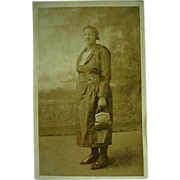SOLD Black Americana RPPC Postcard Lady Posing With Her Purse in Hand