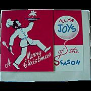 Black Americana Christmas Card With Golliwog