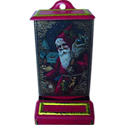 SALE Vintage Match Holder With Old World Santa On Front