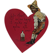 SALE Black Americana Valentine Card By H B Griggs