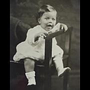 SOLD Black Americana Rppc Real Photo Postcard Toddler Posing