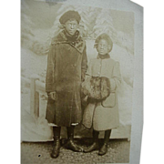 SOLD Black Americana Rppc Real Photo Postcard Possible Sisters One With Hand Muff