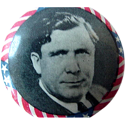 Wendell Wilkie Pin Back Pinback Political Button