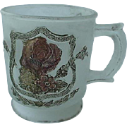 Tennessee Rose Centennial Mug Goofus Glass With American Flag Decoration