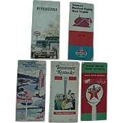 Road Maps From Gas Stations Texaco Esso American Lot Of 5