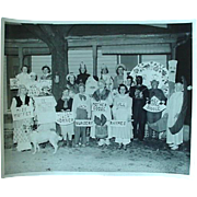 Vintage Photo Of People In Halloween Costumes And Dressed As Nursery Rhymes 1950s