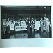 Halloween Play Photo Photograph 40s-50s Play Entitled Between The Bookends Gone With The Wind