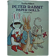 Peter Rabbit Uncut Paper Doll Book 28 Outfits And Peter Rabbit Doll 1982 By Kathy Allert
