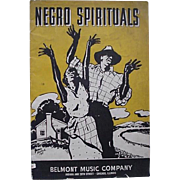 Black Americana Negro Spirituals Booklet By Belmont Music Company 1937