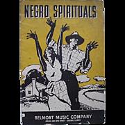 Black Americana Negro Spirituals Booklet By Belmont Music Company 1937